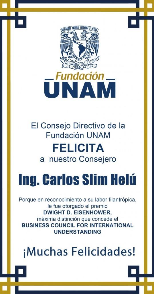 Reconocimiento a Carlos Slim Helú