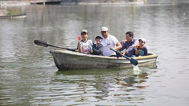 Humedal artificial mejora lago del Bosque de Aragón