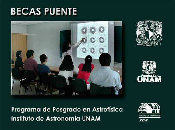 Nuevas becas puente para apoyo a estudiantes de posgrado del Instituto de Astronomía, UNAM en colaboración con Fundación UNAM