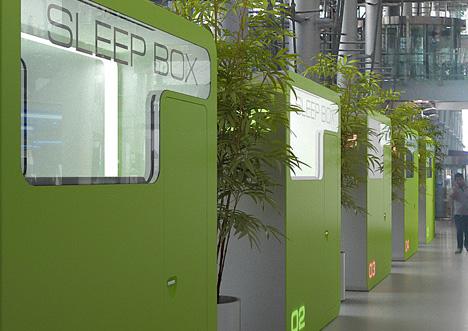 Cajas de sueño, una nueva forma de dormir al paso