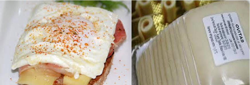 """Desde Colombia,  nueva presentación de un desayuno tradicional, """"rebanadas de huevo"""""""