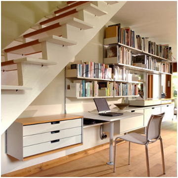 bibliotecas en escaleras