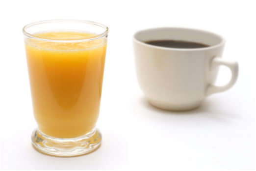 Café vs. Jugo de Naranja