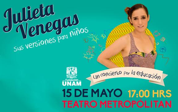 ¡Cortesías para el concierto de Julieta Venegas para niños!
