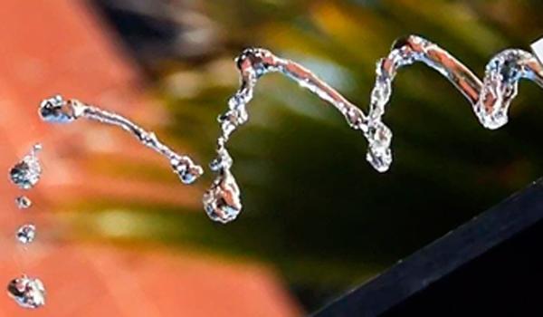 Un zigzag de agua