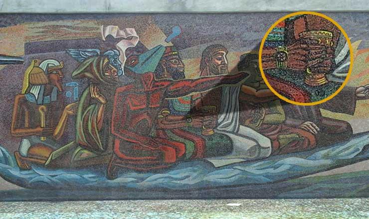 El retorno de quetzalc atl descubre fundaci n unam for Mural quetzalcoatl